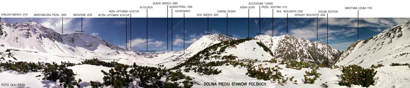 Panorama Z Doliny Pięciu Staw 243 W Polskich