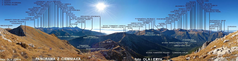 _Panorama z Ciemniaka - Czerwone Wierchy ...