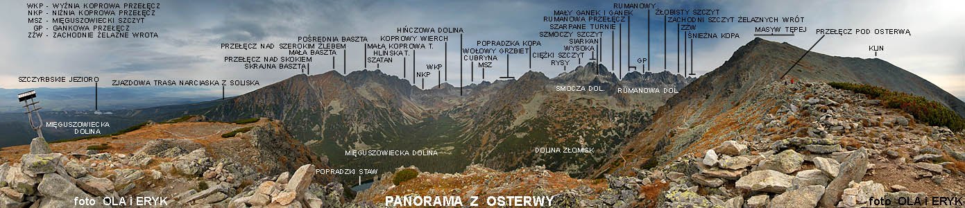 Panorama z Osterwy - 300 stopni