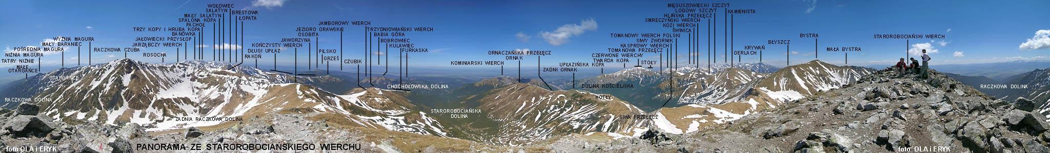Panorama Ze Starorobociańskiego Wierchu 360 Stopni